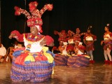 Performance by dance and music group from Nigeria during the Africa Festival in New Delhi