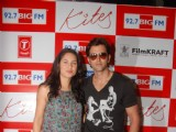 """Kites"" lead actors Hrithik Roshan and Barbara Mori at BIG FM Studios to greet the winners of Love Unlimited contest at Big FM"