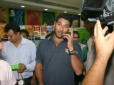 Cricketer Yuvraj Singh at the lunch of South African brand Fry's at the Godrej Nature's Basket store in New Delhi