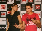 "Bollywood actors Imran Khan and Sonam Kapoor promoting their film "" I Hate LUV Stories''at the DLF Promenade in New Delhi"