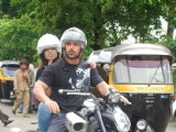 John takes a bike ride with RJ Malishka at Bandra