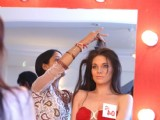A model Getting ready for Delhi audition for the Kingfisher Calendar Girl 2011