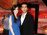 Karan Johar and Dia Mirza promote Panasonic 3-D cameras and LCD at Yashraj