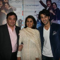 Rishi Kapoor, Neetu Kapoor and Ranbir Kapoor at Do Dooni Chaar premiere | Do Dooni Chaar Event Photo Gallery