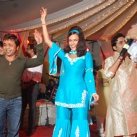 Neha Dhupia, Rajpal promote Action Replayy at Juhu Jagruti Navratri at Juhu | Action Replayy Event Photo Gallery