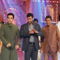 Golmaal 3 stars Ajay Devgan, Tusshar Kapoor and Shreyas Talpade on the sets Colors Diwali show | Golmaal 3 Event Photo Gallery