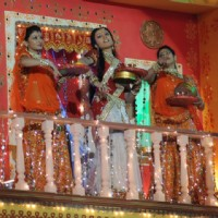 Anupriya Kapoor in the Karvachaut special act for Diwali Dilon ki on Star Plus