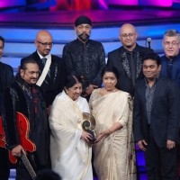 Lata Mangeshkar, Asha and AR Rahman at Global Indian Music Awards on Wednesday night at Yash Raj Studios