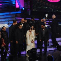 Lata Mangeshkar, A.R.Rahman, Shankar and Asha at Global Indian Music Awards on Wednesday night at Ya