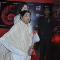 Lata Mangeshkar at Global Indian Music Awards on Wednesday night at Yash Raj Studios