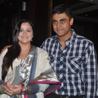 "Mohnish Behl with his wife in Launch of ""Isi Life Mein"" Film 
