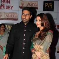 Abhishek and Aishwarya Rai Bachchan at Premier Of Film Khelein Hum Jee Jaan Sey | Khelein Hum Jee Jaan Sey Event Photo Gallery