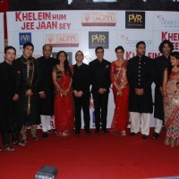 "Team of ""Khelein Hum Jee Jaan Sey"" at the premiere of the movie in Mumbai. . 