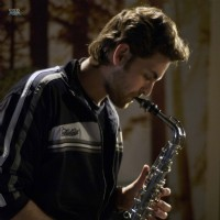 Neil Nitin compose a music through saxaphone