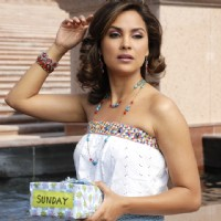 Lara Dutta calling someone | Partner Photo Gallery