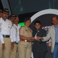 Kiran Bedi at Overdrive Awards at Taj Land's End. .