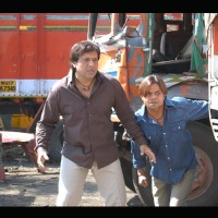 Rajpal Yadav and Govinda looking confused