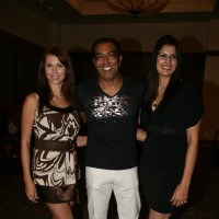 Vindoo Dara Singh, Sonika Kaliraman and Claudia Ciesla contestants of Zor Ka Jhatka at JW Marriot