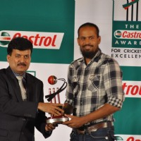Yusuf Khan Pathan at Castrol Cricket Awards at Grand Hyatt. .