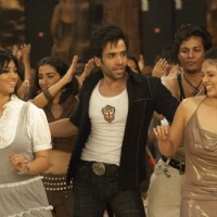 Tusshar,Ayesha and Anjana are enjoying the party