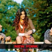 John Abraham, Katrina Kaif and Neil Nitin Mukesh smiling