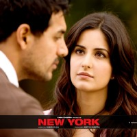 Katrina Kaif talking to John Abraham | New York Photo Gallery