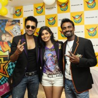 Jackky Bhagnani, Remo Dsouza and Pooja Gupta at F.A.L.T.U film music launch at Planet M, Mumbai