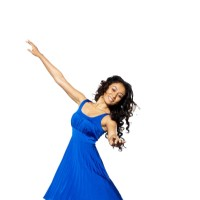Gayatri Patel looking sweet in blue dress