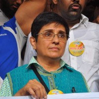 Kiran Bedi at Anna Hazare Anti Corruption Meet at Gateway of India