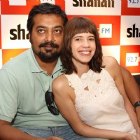 "Anurag Kashyap and Kalki at the launch of 92.7 BIG FM's ""Bollywood Secrets"", in New Delhi 