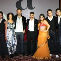 Aamir Khan, Imran, Vir Das, Kunal Roy, Shenaz Treasury and Poorna at Delhi Belly success bash at Taj