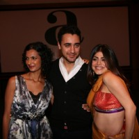 Imran Khan with Shenaz Treasury and Poorna Jaganathan at Delhi Belly success bash at Taj Lands End