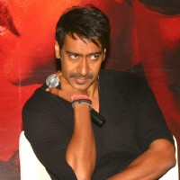"Ajay Devgan at a press meet to promote his film ""Singham"", in New Delhi 