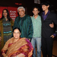 Shabana Azmi and Javed Akhtar at the premiere of Buggle Gum at Cinemax. . | Bubble Gum Event Photo Gallery