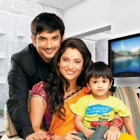 Sushant and Ankita as Manav and Archana in Pavitra Rishta