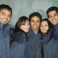 Gaurav Khanna with his friends