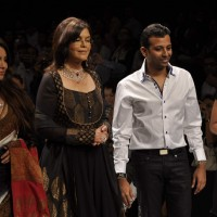 Models walk on the ramp for Sawan Sukha at IIJW 2011 show day 3. .