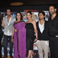 Hema & Esha Deol unveil Tell Me O Khuda look at Cinemax, Mumbai. . | Tell Me O Kkhuda Event Photo Gallery