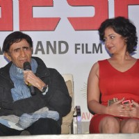 Dev Anand and Divya Dutta at Press conference and unveiling the promo of movie 'Chargesheet'