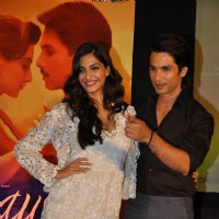 Shahid and Sonam Kapoor at Music success party of film 'Mausam' at Hotel JW Marriott in Juhu, Mumbai | Mausam Event Photo Gallery