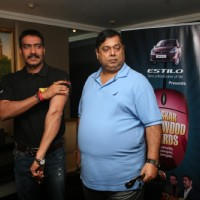 Ajay Devgn and David Dhawan at Film 'Rascals' music launch at Hotel Leela in Mumbai | Rascals Event Photo Gallery