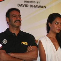 Ajay Devgn and Lisa Haydon at Film 'Rascals' music launch at Hotel Leela in Mumbai | Rascals Event Photo Gallery