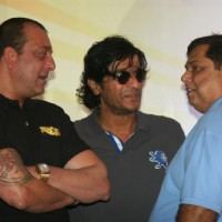 Sanjay Dutt, David Dhawan and Chunky Pandey at Film 'Rascals' music launch at Hotel Leela in Mumbai | Rascals Event Photo Gallery