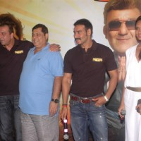 Lisa Haydon, Sanjay Dutt, David Dhawan & Ajay Devgn at the press meet of the film Rascals | Rascals Event Photo Gallery