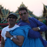 Ajay Devgn and Sanjay Dutt in the movie Rascals | Rascals Photo Gallery