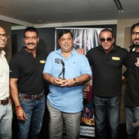 Ajay Devgn, Sanjay Dutt and David Dhawan at Film 'Rascals' unveil the Bhaskar Bollywood Awards | Rascals Event Photo Gallery