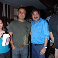 Vivek Mushran with Tony Singh 'Maryaada Lekin Kab Tak' tvshow completion party of 200 episodes
