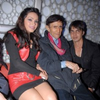 Devshi Khanduri, Dev Anand and Anish Vikramaditya at Chargesheet film Premiere in Cinemax