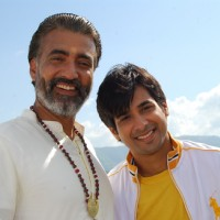 Atharva with his father Nityananda Swami in tvshow Hawan