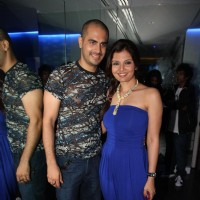 Kaishav Arora and Deepshikha Nagpal at new pub 'ICE QUBE' launch in Goregaon, Mumbai